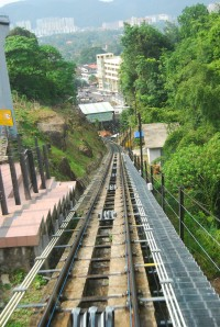 rail fernicular train menuju Bukit Bendera