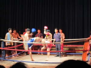 Mock Kickboxing Match