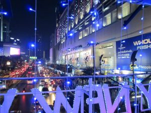 Platinum Mall at night