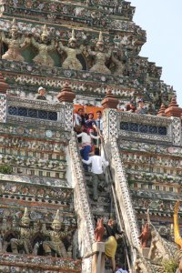 Climbing the Wat Arun