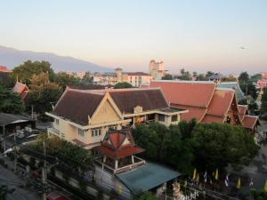 The view  of Chiang Mai from So Hostel