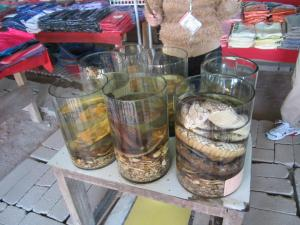 wonderful delicacies from Laos, snake wine, anyone?