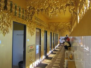 The golden toilet, next to Wat Rong Khun