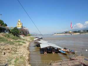The Pier of Mekong River