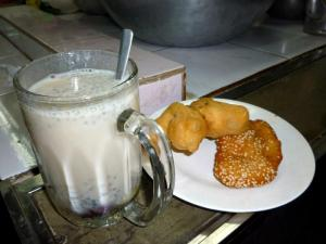 Soy Milk and Fritters