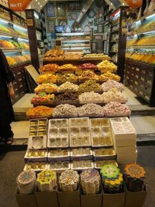 Turkish Delight dan buah-buahan kering