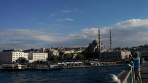view from the end of Galata Bridge