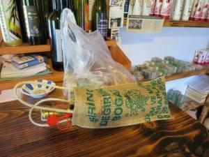 Belanjaan hari ini : sebotol anggur mulberry dan beberapa sabun minyak zaitun
