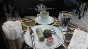 Turkish Coffee,Lokum and Baklava