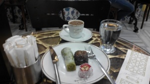 Turkish Coffee,Lokum and Baklava