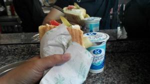 Half bread Tavuk Kebab dan Ayran