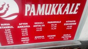 Jadwal Bis Pamukkale dari Selcuk Otogar