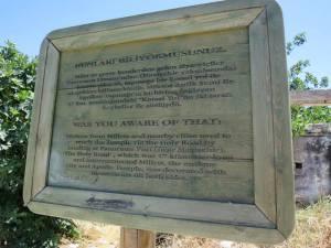 papan petunjuk Sacred Way