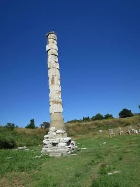 Satu2nya pilar Kuil Dewi Artemis (Selcuk)