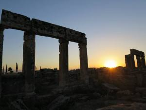 Sunset on Hierapolis