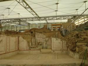 Tembok dan mosaik yang masi utuh