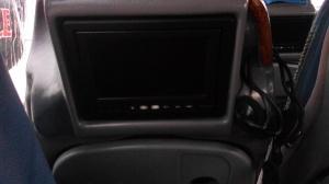Televisi di tiap kursi penumpang
