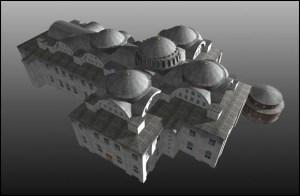 Church of the Holy Apostles (sekarang telah runtuh dan tempat berdirinya gereja ini sekarang didirikan Mesjid Fatih) courtesy of : http://www.byzantium1200.com/images/apostles.jpg