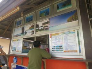 Ticket Kiosk to Railey and other beaches/ islands