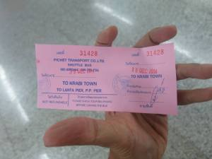 Ticket to Krabi Town