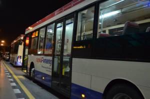 Bus menuju Komtar