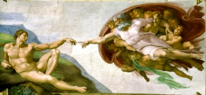 The Creation of Adam by Michaelangelo. Courtesy of https://upload.wikimedia.org/wikipedia/commons/a/ac/Creaci%C3%B3n_de_Ad%C3%A1m.jpg