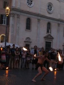 Fire eater di Piazza Navona