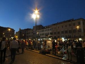 Piazza Navona di malam hari