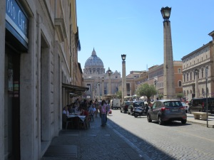 The way to St Peter's Square