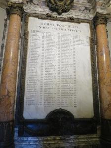 Daftar nama Paus yang menjabat dari Paus pertama yaitu St Peter sampai Paus yang sekarang, Paus Francis.
