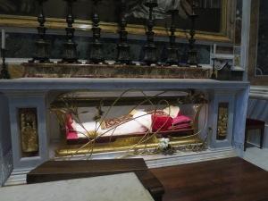 Jasad Paus Yohanes XXIII yang masih utuh.
