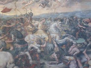 Constantine Agung dalam pertempuran Milvian Bridge karya Raphael