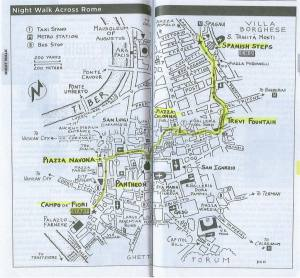 Peta Jalan-Jalan Sore ala Rick Steves yang saya pakai. Courtesy of http://i180.photobucket.com/albums/x216/TheWindyCity/Italy%202011/NightWalk1Custom.jpg