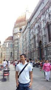 Among the crowds of Florence