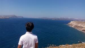 ah the blue ocean and sky