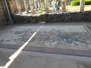 Mosaic Alexander Agung vs Raja Darius dari Persia
