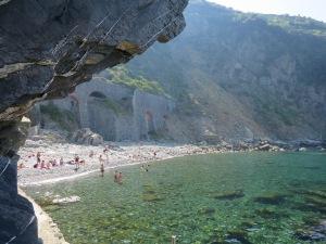 A hidden gem behind the cliff in Riomaggiore
