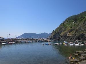 Pelabuhan alami Vernazza