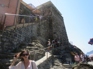 to the tower of Vernazza