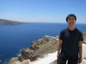 somewhere in Oia and above Ammoudi Bay