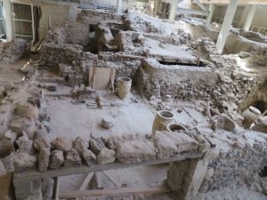 the ruins of Akrotiri