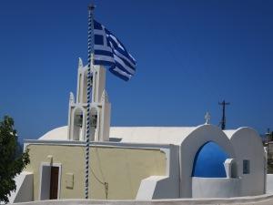 Salah satu gereja yang saya jumpai secara tak sengaja otw ke ujung selatan Santorini.