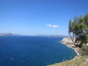 The edge of Santorini
