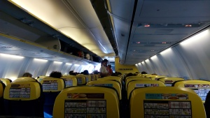 Arriving at Athens with RyanAir
