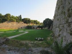 Salah satu sudut benteng kota Rhodes