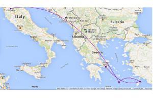Santorini-Rhodes-Athens