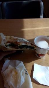 Cappuccino dan Spinach pie