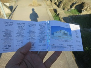 Tiket masuk Akropolis