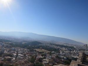 Pemandangan indah kota Athena dari Akropolis