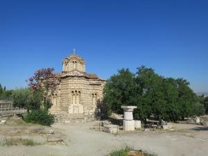 Gereja Byzantine yang ada di Ancient Agora